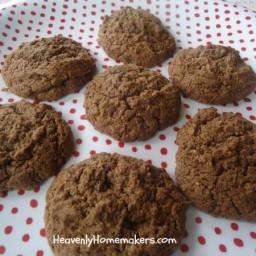 Low Sugar Chocolate Fudge Cookies