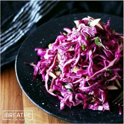 Low Carb Red Cabbage, Mint, and Granny Smith Apple Slaw