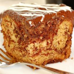 Luscious Chocolate Swirl Banana Cake