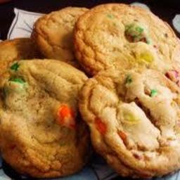 M & M Peanut Butter Cookies