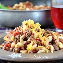 Macaroni Beef Tomato Goulash