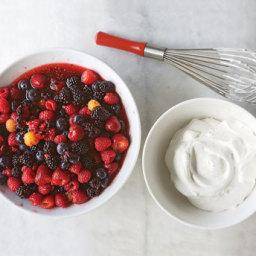 Macerated Berries with Vanilla Cream