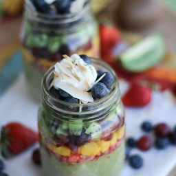Magically Delicious Matcha Rainbow Overnight Oats