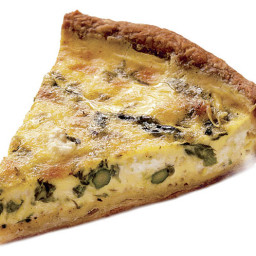 Main - Asparagus, Goat Cheese and Chive Quiche