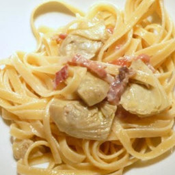 Main - Linguine with Artichoke Hearts & Prosciutto