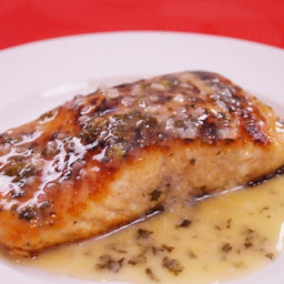 Main - Salmon Seared with a Lemon Garlic crust