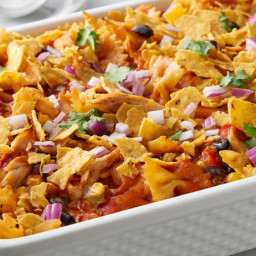 Make-Ahead Cheesy Southwest Chicken and Pasta Casserole