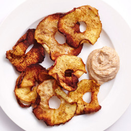 Make These Easy Air-Fried Cinnamon Apple Chips With Almond Yogurt Dip