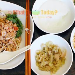 MANDALAY MEESHAY / BURMESE RICE NOODLE WITH PORK (4 servings)