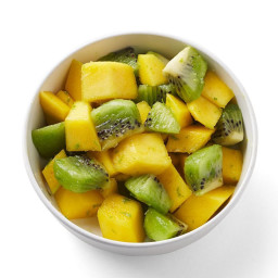 Mango and Kiwi with Fresh Lime Zest