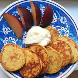Mango Apple Banana pancakes