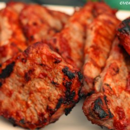 Mango BBQ Pork Chops