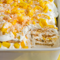 Mango Coconut Icebox Cake