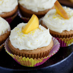 Mango Cupcakes with Mango Buttercream