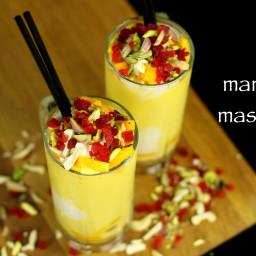 mango mastani recipe | mango milkshake with icecream recipe - pune style
