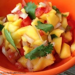 Mango, Peach, Pineapple Salsa