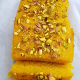 Mango Semolina Cake