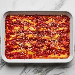 Manicotti with Homemade Ricotta