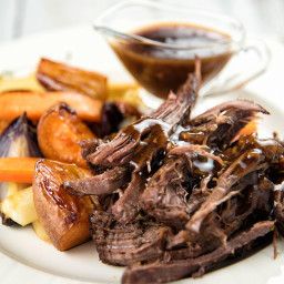 Maple Balsamic Braised Chuck Roast Recipe