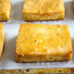 Maple Dijon Baked Tofu