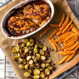 Maple Dijon Chicken Sheet Pan Dinner Recipe
