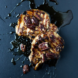 Maple-Glazed Pork Chops with Toasted Pecans