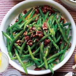 Maple Pecan Glazed Green Beans