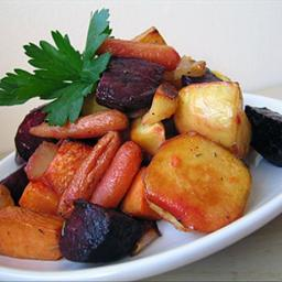 Maple Roasted Root Vegetables