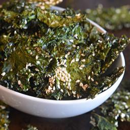 Maple Sesame Kale Chips