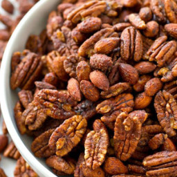 Maple Spice Candied Pecans and Almonds