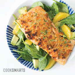 Maple-Thyme Panko Salmon