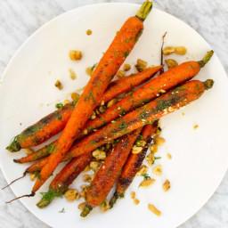 Maple–Cider Vinegar Roasted Carrots