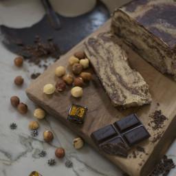 Marbled Hazelnut and Chocolate Halvah