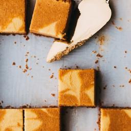 Marbled Pumpkin-Maple Cheesecake Bars