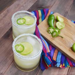 Margarita con jalapeño
