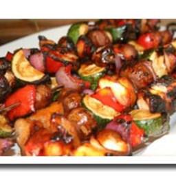 Marinated Grilled Vegetable Skewers