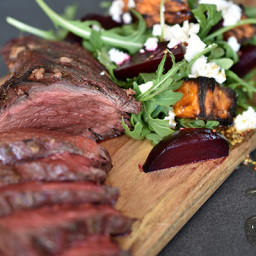 Marinated Kangaroo Fillet with Roast Beetroot Salad