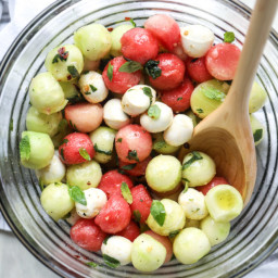 Marinated Mozzarella Melon Salad