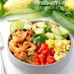 Marinated Shrimp and Summer Vegetable Quinoa Bowls