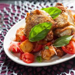 Marjoram-Garlic Chickenwith Jersey Tomato Panzanella