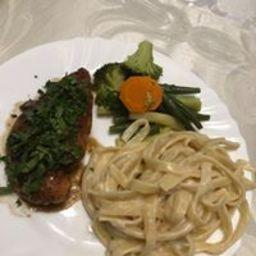 Marsala Chicken with Fettucini Alfredo