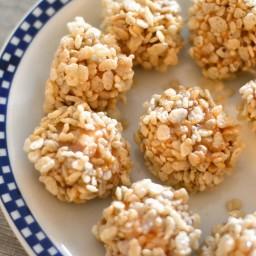 Marshmallow Caramel Rice Krispies Puffs