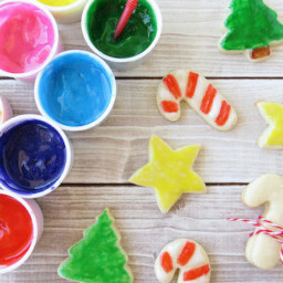 Marshmallow Paint for Christmas Cookies
