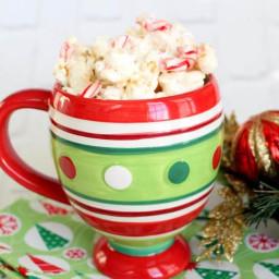 Marshmallow Peppermint Popcorn