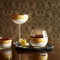 Martin Boetz: Young coconut jelly and burnt mango cream with pandanus macar