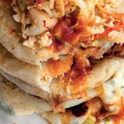 Masa Cakes with Spicy Slaw (Pupusas con Curtido)