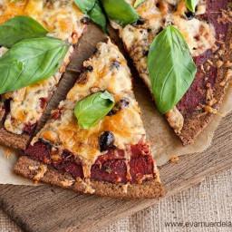 Masa de pizza con coliflor, versión A