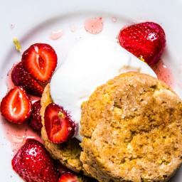Masa Shortcake with Macerated Strawberries