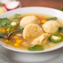 Masa Ball Soup (Mexican Corn Dumplings in Chicken Soup)