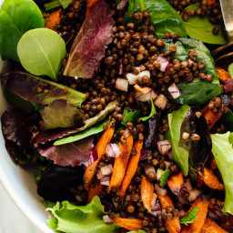 Masala Lentil Salad with Cumin Roasted Carrots
